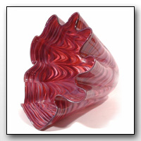 Hand Blown Glass Fluted Bowls